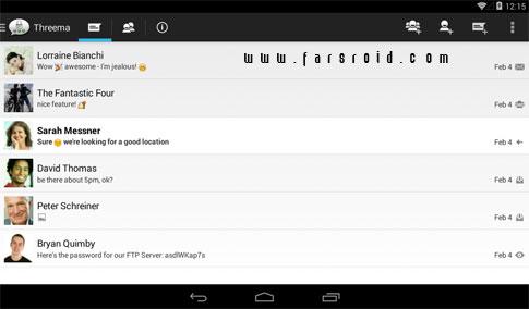 Threema Android - نرم افزار مسنجر رایگان اندروید
