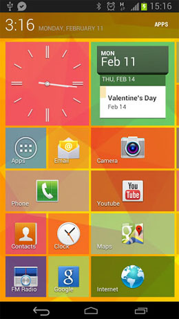 Tile Launcher Android