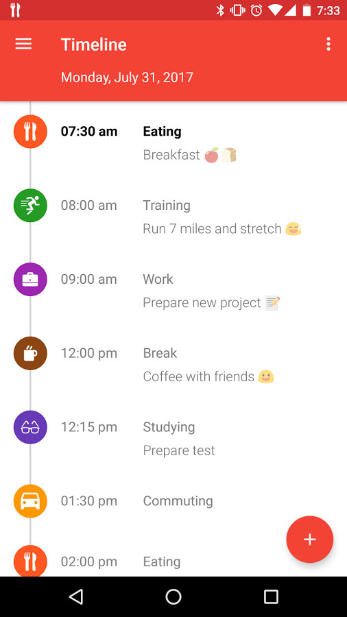 TimeTune, Your Daily Schedule Android