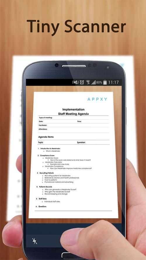 Tiny Scan Pro: PDF Scanner Android برنامه رایگان اندروید