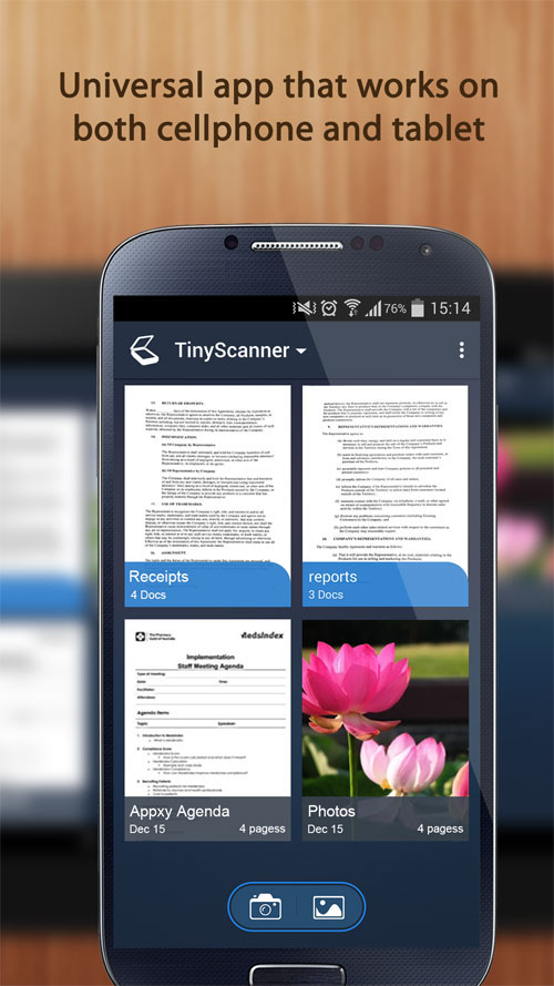 Tiny Scan Pro: PDF Scanner Android - اسکنر حرفه ای اندروید