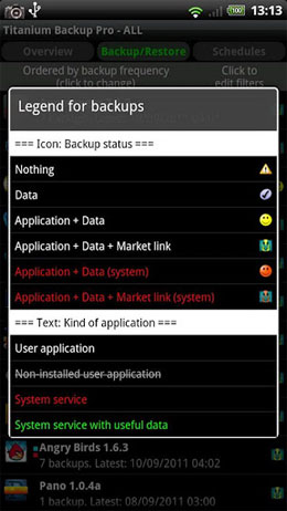 Titanium Backup Pro Patched Android برنامه اندروید
