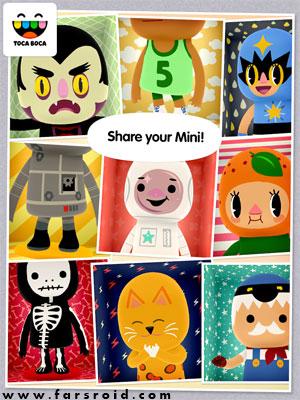 Toca Mini Android - بازی آموزشی کودکانه اندروید