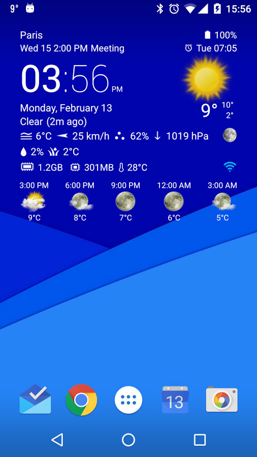 Transparent clock & weather AndroiD برنامه اندروید