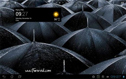 Transparent clock & weather AndroiD برنامه اندروید