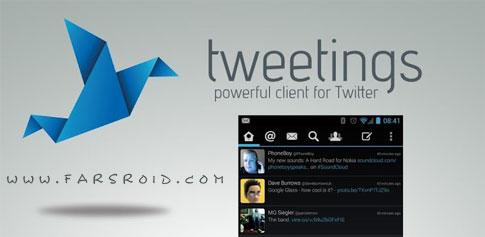 دانلود Tweetings for Twitter - کلاینت قدرتمند توییتر اندروید !