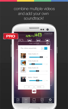 Vidstitch Pro - Video Collage Android - اندروید