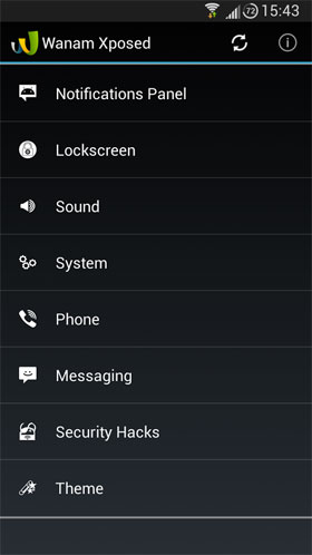 Wanam Xposed Android - برنامه کاربردی اندروید