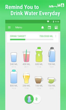 دانلود Water Your Body 3.233.119 – برنامه تنظیم آب بدن اندروید!