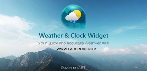 دانلود Weather & Clock Widget Ad Free - برنامه هواشناسی اندروید