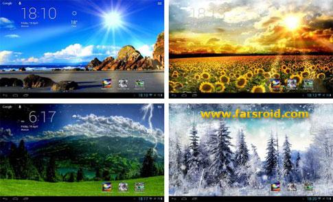 دانلود Weather Screen - لایو والپیپر هواشناسی جالب اندروید !