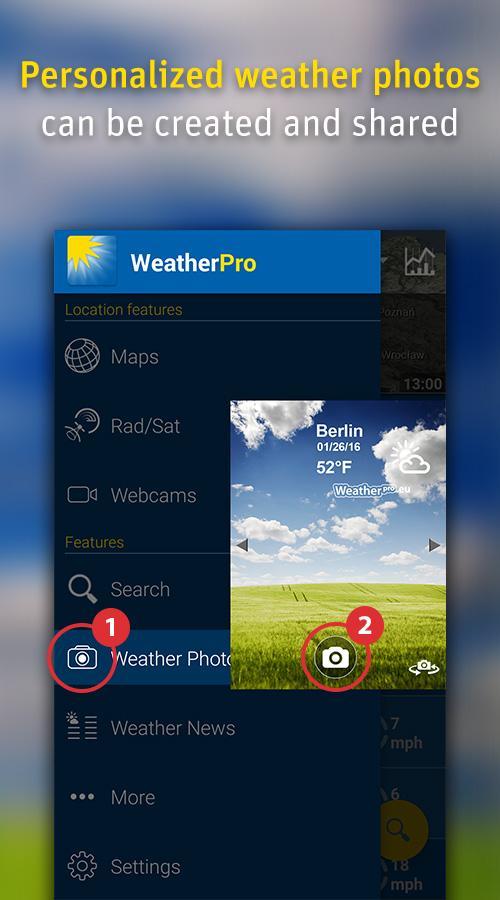 دانلود WeatherPro Premium 5.5 – بهترین برنامه آب و هوای اندروید + مود