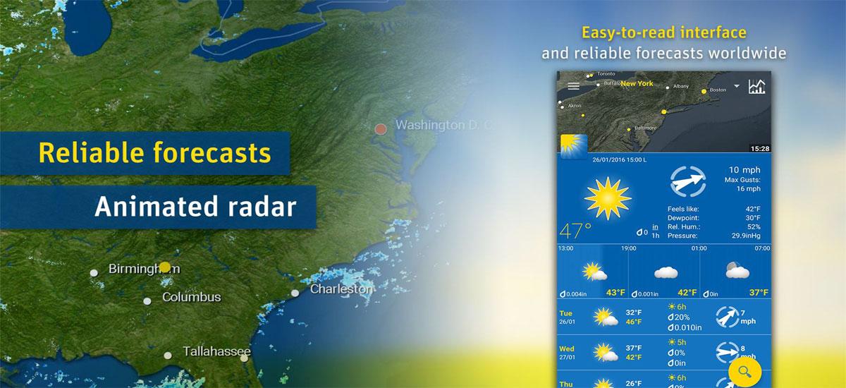 دانلود WeatherPro Premium - بهترین برنامه آب و هوای اندروید !