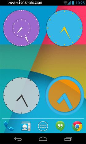 Wow KitKat Clock Widgets Android برنامه اندروید