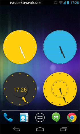 Wow KitKat Clock Widgets Android برنامه اندروید