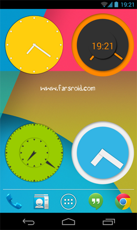 Download Wow KitKat Clock Widgets Android - NEW