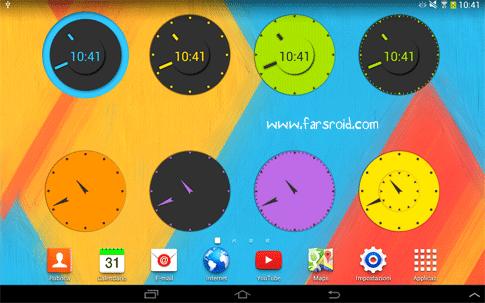 دانلود Wow KitKat Clock Widgets - ویجت های ساعت کیت کت اندروید