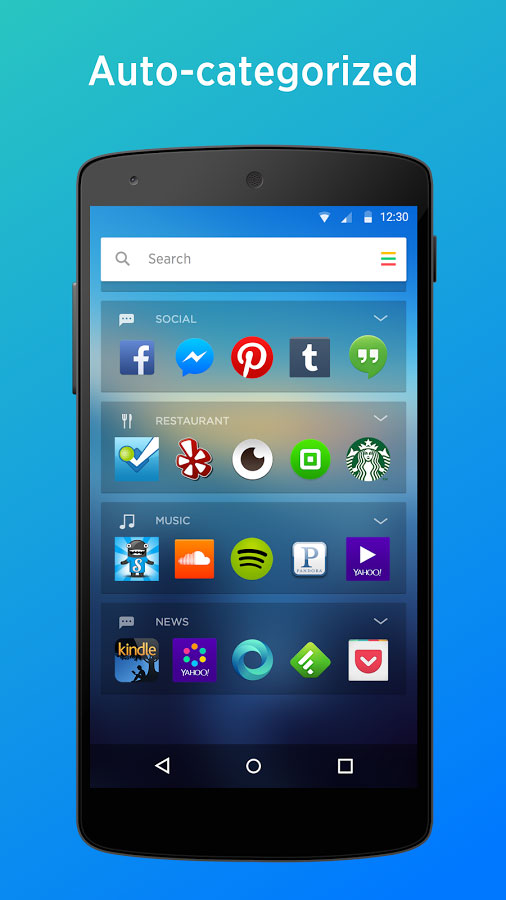 Yahoo Aviate Launcher Android - برنامه اندروید