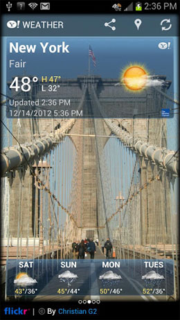 Yahoo! Weather Android