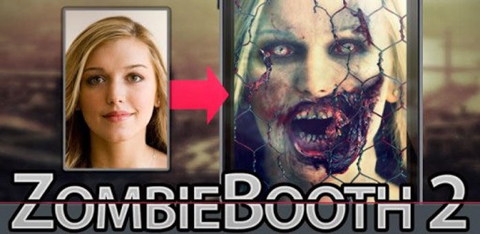 Download Zombie Booth 2 FULL - an interesting app to turn faces into zombies for Android!