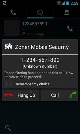 Zoner Mobile Security Android