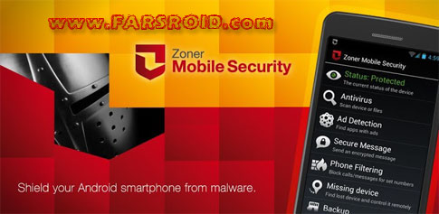 Zoner Mobile Security - آنتی ویروس قوی اندروید