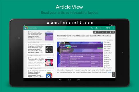 gReader Pro | Feedly | News - نرم افزار اندروید