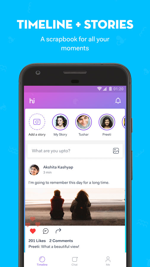 hike messenger Android - برنامه اندروید