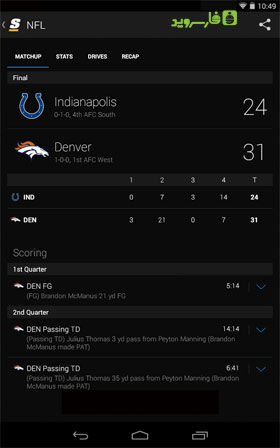 theScore: Sports & Scores Android
