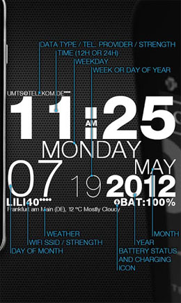 wp clock design live wallpaper Android