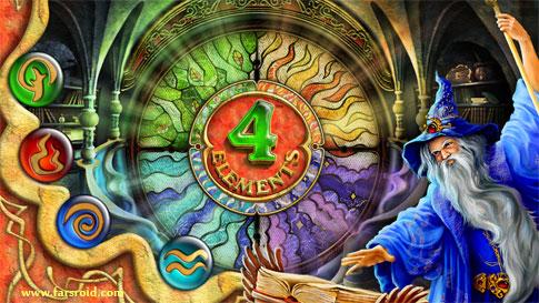 دانلود Four Elements - بازی اعتیادآور فکری فور المنتز اندروید + دیتا