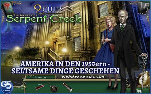 دانلود Nine Clues: Serpent Creek - بازی 9 سرنخ اشیاء پنهان G5 اندروید + دیتا