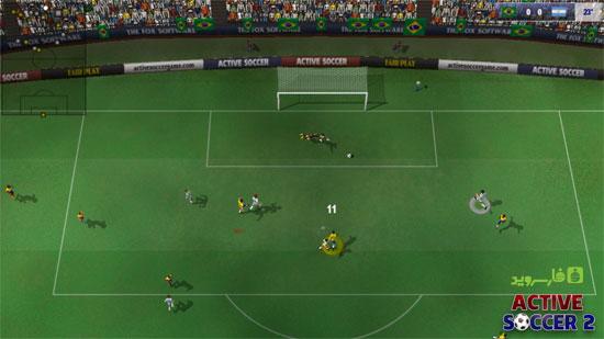 بازی فوتبال اندروید نسخه جدید,Active Soccer 2