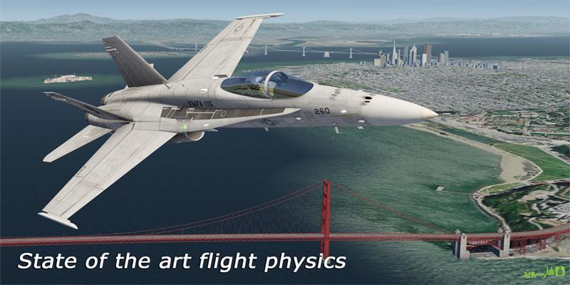 دانلود Aerofly 2 Flight Simulator - گرافیکی ترین و واقعی ترین بازی شبیه ساز پرواز اندروید + دیتا
