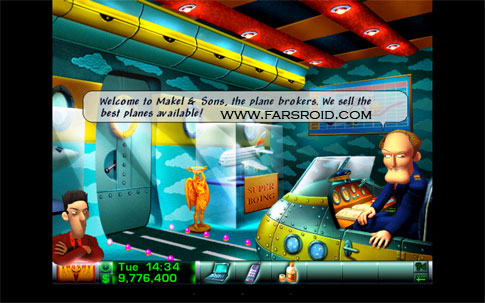 Airline Tycoon Deluxe Android - بازی جدید اندروید