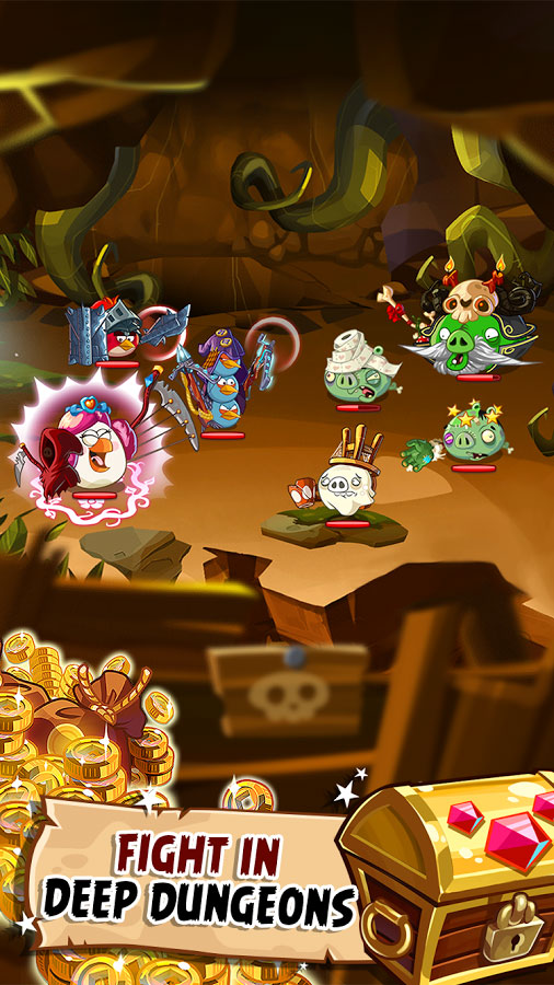 Angry Birds Epic 4 دانلود Angry Birds Epic 2.5.26974.4598 – بازی حماسه پرندگان خشمگین آندروید + مود + دیتا