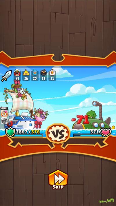 دانلود Angry Birds Fight RPG Puzzle 2.5.6 – بازی مبارزه پرندگان خشمگین اندروید + مود