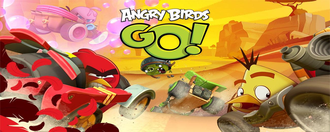 دانلود Angry Birds Go! - انگری بیرد از نوع ماشین سواری اندروید!