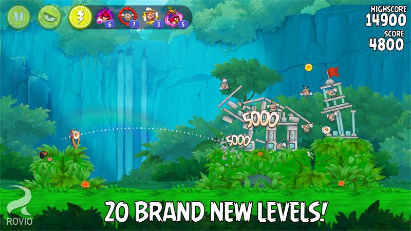 دانلود Angry Birds Rio 2.6.13 – بازی پرندگان خشمگین ریو اندروید + مود