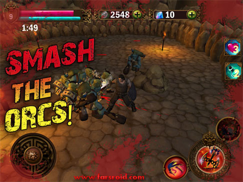 Download Angry Warrior Eternity Slasher Android Apk + Obb + Mod