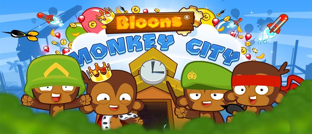 """دانلود Bloons Monkey City - بازی دفاع از قلعه """"شهر میمون ها"""" اندروید + مود"""
