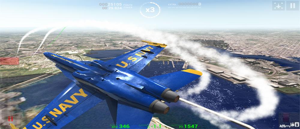 دانلود Blue Angels - Aerobatic SIM 1.0 - بازی شبیه ساز پرواز اندروید + مود + دیتا
