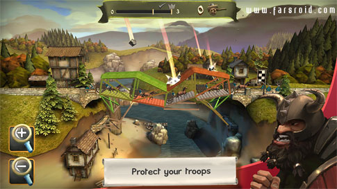 Bridge Constructor Medieval Android - بازی جدید اندروید