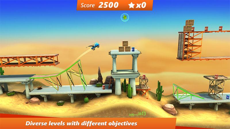 دانلود Bridge Constructor Stunts - بازی پل سازی خارق العاده اندروید !