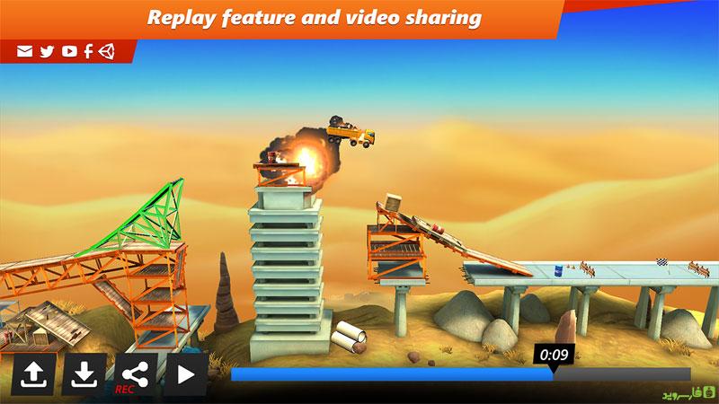دانلود Bridge Constructor Stunts 3.0 – بازی پل سازی خارق العاده اندروید + مود