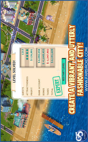 Build It! Miami Beach Android - بازی اندروید