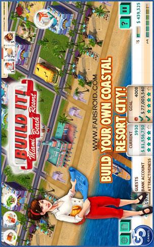 دانلود Build It! Miami Beach 1.0 – بازی تفریحگاه ساحلی اندروید