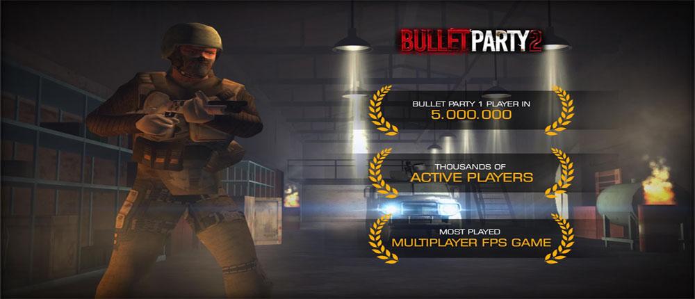 دانلود Bullet Party CS 2 : GO STRIKE - بازی اکشن فوق العاده شبیه کانتر اندروید + مود