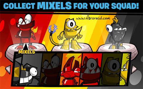 بازی اکشن اندروید - Calling All Mixels Android