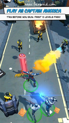Captain America: The Winter Soldier Android - بازی اندروید